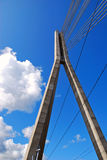 Cable bridge in Riga Stock Photos