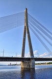 Cable bridge in Riga Royalty Free Stock Images
