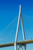 Cable bridge, royalty free stock photography