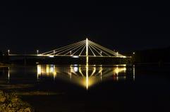 Cable Bridge in Umeå, Sweden. The Kolbäcksbron royalty free stock images