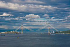 Cable bridge Stock Photography