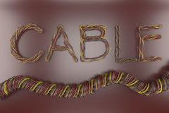 Cable Bundle text Royalty Free Stock Photo