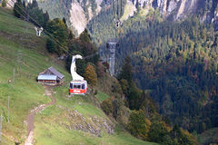 Cable car. In Switzerland Stock Photo
