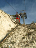 Cable Car. At the Mitzpe Rosh Hanikra stock photography