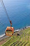 Cable car. In madeira island next to girão cape Stock Photos