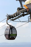 Cable Car. An empty cable car reaching at the station Royalty Free Stock Photo