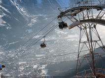 Cable Car. At Chamonix, French Alps royalty free stock image