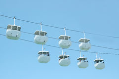 Cable Car. White Cable Car Stock Photo