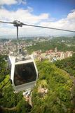 Cable car. A cable car hangs in the sky Royalty Free Stock Image