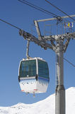 Cable car. A gondola/cable car in the Alps royalty free stock photo