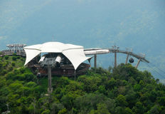 Cable car. Station in Langkawi, Malaysia Royalty Free Stock Photo