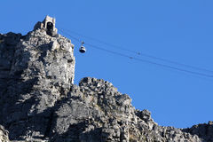 Cable car. The upper cable car station on Table Mountain, South Africa Royalty Free Stock Photography