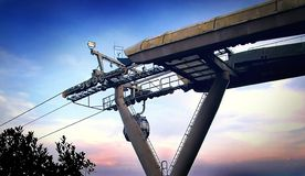 Cable car. A cable car and also the cable car station Royalty Free Stock Photo
