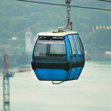 Cable Car. Blue Cable Car, Singapore stock photography