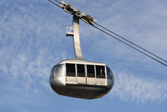 Cable Car. A cable car, tram, travels through the sky Stock Photos