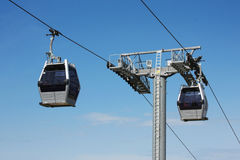 Cable Car. Modern cable car in Barcelona city, Spain stock photo