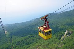 Free Cable Car Above A Wood Stock Photos - 675413
