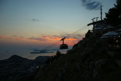Cable car above Dubrovnik Stock Image