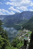 Cable Car above Hallstatt Stock Photos