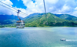 Cable Car. Above Sea And Valley Stock Photography