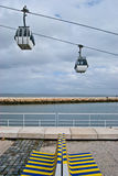 Cable car above the Tejo Stock Photo