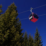 Cable car. (aerial tramway) with clear blue sky Stock Images