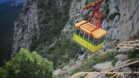 Cable Car in Ai-Petri, Crimea stock video