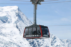 Cable Car at Aiguille de Midi Royalty Free Stock Photo