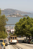 Cable Car and Alcatraz Stock Image