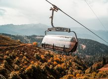 Autumn in the mountains, alpine meadows stock images