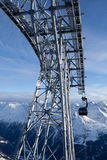 Cable-car in alps. Soelden, Austria Royalty Free Stock Image