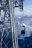 Cable-car in alps Royalty Free Stock Photography