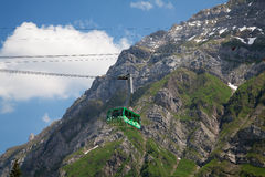 Cable car in alps Royalty Free Stock Images