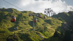 Cable car in Alps Austria Kaprun stock photography