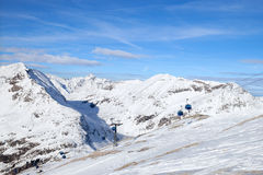 Cable car in Alps Royalty Free Stock Photos