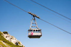 Cable car in the alps of Bavaria Royalty Free Stock Image