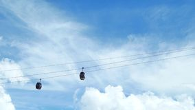 Cable car. In the amusement park stock video footage