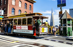 Free Cable Car And Transamerica Building In San Francisco Stock Photo - 40732140