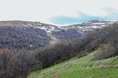 Cable car Armenia royalty free stock photos