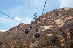 Cable car at the Badaling Great Wall, China.  Royalty Free Stock Image