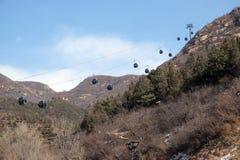 Cable car at the Badaling Great Wall, China.  Stock Photo