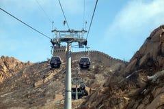 Cable car at the Badaling Great Wall, China Stock Images