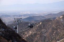 Cable car at the Badaling Great Wall, China.  Stock Images