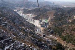 Cable car at the Badaling Great Wall, China.  Stock Image