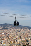 Cable car in Barcelona Stock Photos