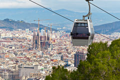 Cable car in Barcelona Stock Photography