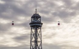 Cable car in Barcelona Catalonia Spain Royalty Free Stock Photography