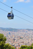 Cable car in Barcelona, Spain Stock Photography