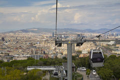 Cable car in Barcelona, Spain Royalty Free Stock Photo