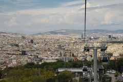 Cable car in Barcelona, Spain Royalty Free Stock Photography